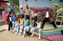 Via Katlehong rehearse at the Katlehong Arts Centre prior to their departure to France where they will participate at various arts and dance festivals. Photograph : John Hogg.