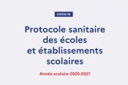 Protocole sanitaire – Rentrée 2020